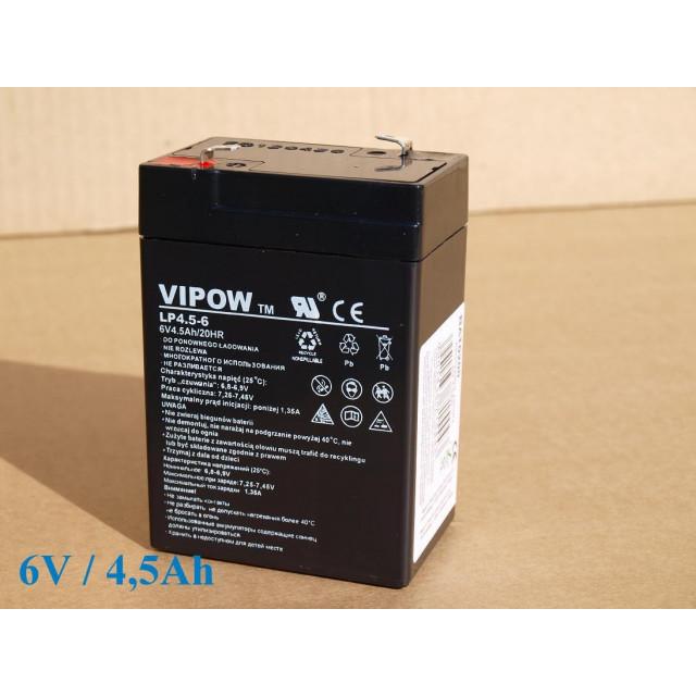 Gelová nabíjacia batéria 6V- 4,5Ah/ 20HR,