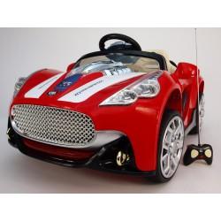 Elektrické auto závodné Maserat s výklopnými dverami, dialkovým ovládaním,12V, červené