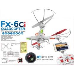 Dron 32 cm s 2 Mpix kamerou s pfiamym WiFi na mobil, s osvetlením, FX - 6CI