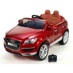 Audi Q7 s DO, FM, prehrávač USB, čalunením, pérovaním, EVA kolesami, bohatým osvietením, 12V, vínová metalíza,