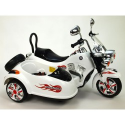 Motorka so sajdkárou, 2xmotor, 12V, neuveriteľné LED efekty, pérovaním nápravy