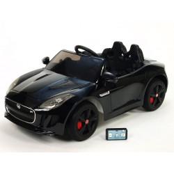 Jaguar F type/R, s 2.4G DO, otváracími dverami a kaputou, EVA kolesami, pérovaním nápravy,12V, lakovaný čierny
