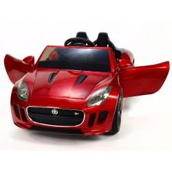 Jaguar F type/R, s 2.4G DO, otváracími dverami a kaputou, EVA kolesami, pérovaním nápravy,12V, lakovaný červený