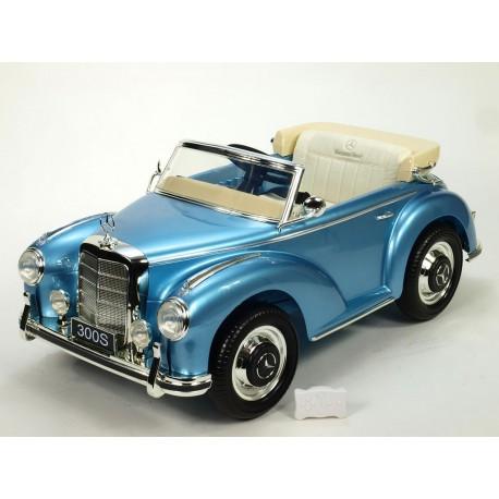 Mercedes-Benz 300S oldtimer s FM rádiom, DO, koženým potahom, pérovaním nápravy, 12V, lakovaný svetlo modrou metalízou