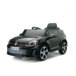 VW Golf GTI s 2,4 G DO, s otváracími dverami, svietiacími diskami kolies, 12V, lakovaný čierny