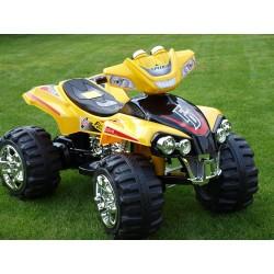 Štvorkolka FD Sport na veľkých kolesách, 4 rýchlosti, zvukové efekty, 2xmotor, 12V, žltá