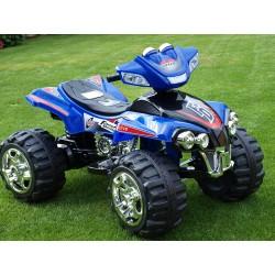 Štvorkolka FD Sport na veľkých kolesách, 4 rýchlosti, zvukové efekty, 2xmotor, 12V, modrá