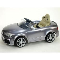 Audi RS5 s 2,4G DO, SD kartou, zvuk a LED efektami, čaluneným sedadlom, strieborná metalíza