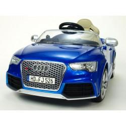 Audi RS5 s 2,4G DO, SD kartou, zvuk a LED efektami, čaluneným sedadlom, modrá metalíza