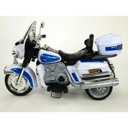 Cestovná motorka Mostly goldwing, 12V, Mp3, voltmeter, 2x motor, bielo-modrá