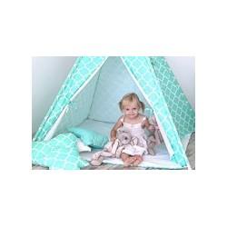 Detský stan Mini sada s obojstrannou dekou-Maroko mätové