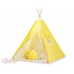 Detský stan Mini sada s obojstrannou dekou-Maroko žlté