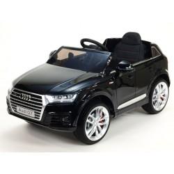 Audi Q7 NEW s 2,4G DO, otváracími dverami, FM, USB,EVA kolesami, LED osvietením, čierna metalíza, stredná veľkosť