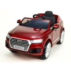 Audi Q7 NEW s 2,4G DO, otváracími dverami, FM, USB,EVA kolesami, LED osvietením, vínová metalíza, stredná veľkosť