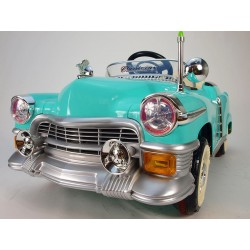 KUBA RETRO s DO, s 2.4G bluetooth, nafukovacími pneumatikami, modro-zelené