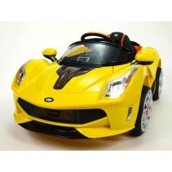 Rallye Ferrato s DO, otváracími dverami, pérovaním obidvoch náprav, super LED efekty, 12V, žlté