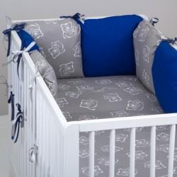 Vankúšikový mantinel s obliečkami Baby Nellys - č. BL17Vankúšikový mantinel s obliečkami Baby Nellys - č. BL17