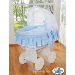 Prútený kôš pre bábätko biely Glamour