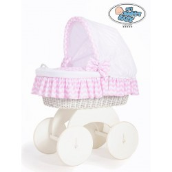 Prútený kôš pre bábätko biely HANNAH