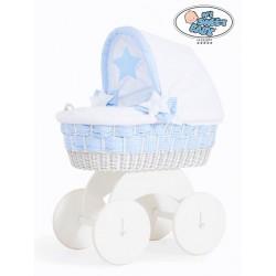 Prútený kôš pre bábätko biely Alessandra