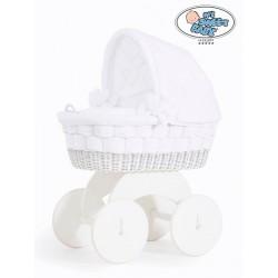 Prútený kôš pre bábätko biely BLANCA