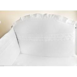 Mantinel s obliečkami white biela - madeira