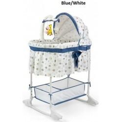 Multifunkčná kolíska Milly Mally - biela/modrá