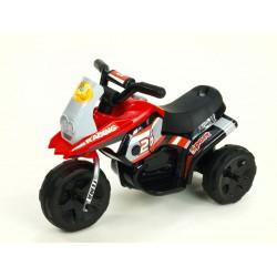 Motorka Racing šport 6V, s 2 svetlami a hudbou, pre najmenších, červená