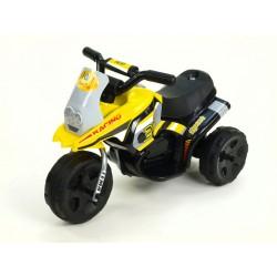Motorka Racing šport 6V, s 2 svetlami a hudbou, pre najmenších, žltá