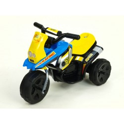 Motorka Racing šport 6V, s 2 svetlami a hudbou, pre najmenších, modrá