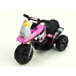 Motorka Racing šport 6V, s 2 svetlami a hudbou, pre najmenších, ružová