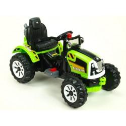 Traktor Kingdom s mohutnými kolesami a konštruciou, 2x motor 12V, 2x náhon, žltý