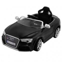 Audi RS5 s 2,4G DO, SD kartou, zvuk a LED efektami, čaluneným sedadlom, lakovaná čierna