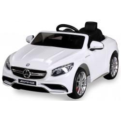 Mercedes - Benz S63 AMG, s 2.4G DO, pérovaním obidvoch náprav, EVA kolesami,12V, biely