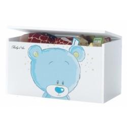 Box na hračky, truhlička Macko Macko STYDLÍN modrý