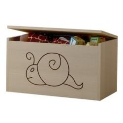Box na hračky, truhlička Mačičikova Slimák