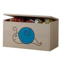 Box na hračky, truhlička Mačičikova Slimák modrý