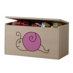 Box na hračky, truhlička Mačičikova Slimák ružový