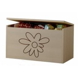 Box na hračky, truhlička Mačičikova Kvetinka