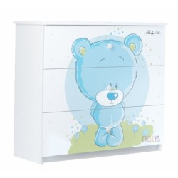 Detská komoda - Medvedík STYDLÍN modrý