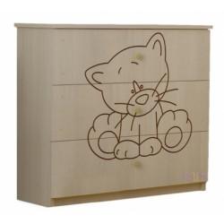 Detská komoda - Mačička