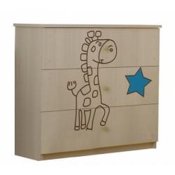 Detská komoda - Žirafka modrá
