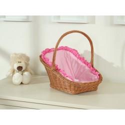 Prútený košík pre bábiky prírodný