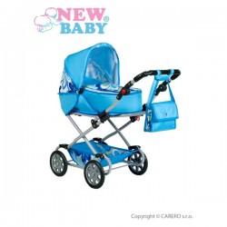 Detský kočík pre bábiky 2v1 New Baby Monika modrý