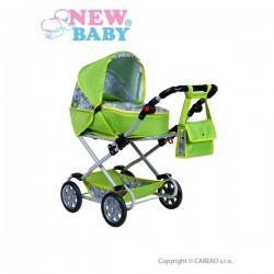 Detský kočík pre bábiky 2v1 New Baby Monika zelený