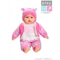 Hovoriaca a spievajúca detská bábika PlayTo Anička 46 cm
