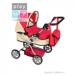 Hlboký kočík pre bábiky PlayTo Viola svetloružový