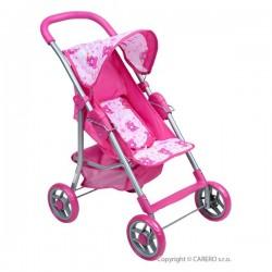 Športový kočík pre bábiky Baby Mix svetlo ružový