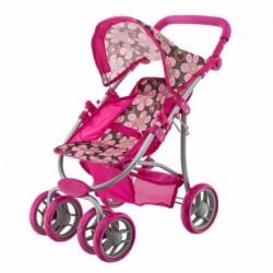 Športový kočík pre bábiky - Kvetinky