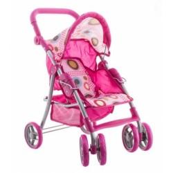 Športový kočík pre bábiky - ružový